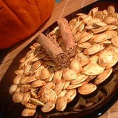 "Pumpkin Seeds with Cinnamon and Salt | Ann says, ""I love this combination for seeds. It's different and unique... and they taste good!"""