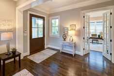MBIA 2018 BRONZE Award for Speculative Transitional Home.  Builder: Laurence Cafritz Builders.  #foyer