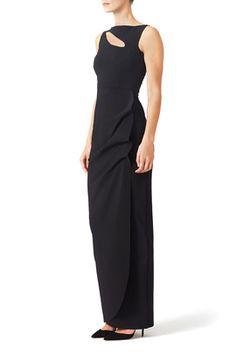 Black Angie Gown by La Petite Robe di Chiara Boni
