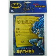 Invite all your friends to your next hero party with these Batman Invitations. This pack of invitations is perfect to let your friends know that it is time to be a hero for a day! These colourful invites are easy to fill in and add your own informati Batman Party Supplies, Kids Party Supplies, Batman Invitations, Birthday Party Invitations, Invites, Batman Birthday, Boy Birthday, Kids Party Decorations, Party Ideas