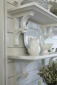 fixer upper shelves with wood corbels | corbel shelving - Google Search | fixer upper style | Pinterest ...