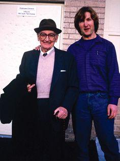 Mario Maccaferri, left, with author Sandor Nagyszalanczy on the day they first met