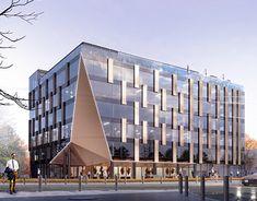 Cinema Theatre, Business Centre, Modern City, Facade, Architecture Design, Multi Story Building, Gallery, Behance, Profile