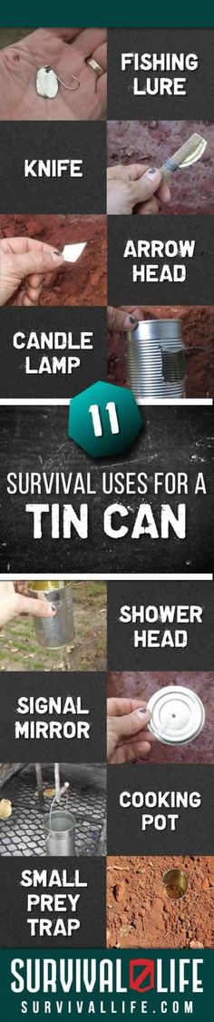11 Survival Uses for a Tin Can | Survival Life | Blog - Survival Life | Outdoor…