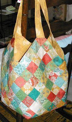 Mondo bag with Prayer Flag fabric! (Boo hoo - I think I ran out of Prayer Flag)