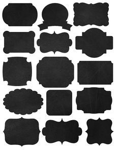 Freebies! Printables Labels and Chalkboard Fonts! Chalkboard, Chevron and Black labels! Even import into silhouette studio and have your cutter cut them!