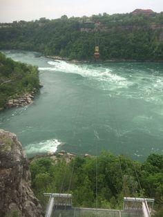 Niagara whirlpool at Niagara Falls in the Niagara river in Canada