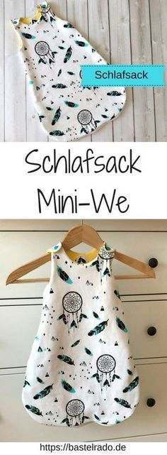 Sleeping Bag Mini-We - sewing instructions incl. Schlafsack Mini-We – Nähanleitung inkl. Schnittmuster Simply sew your own baby sleeping bag. I& show you how it works. Baby Knitting Patterns, Sewing Patterns, Dress Patterns, Knitting Bags, Crochet Patterns, Free Knitting, Sewing Projects For Beginners, Knitting For Beginners, Knitting Projects