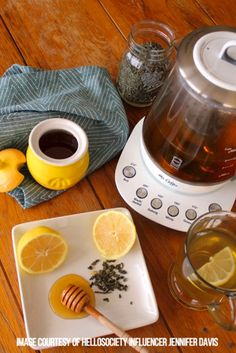 Afternoon Tea. Tea Time. Tea Break. Tea-bration. Tea-stravaganza. Tea-esta.  Whatever your daily tea ritual, the Mr. Coffee® Tea Maker only enhances it.   @jdavissquared shows off a life-giving combination of Tea, Honey, and Lemon.  Mmm… #MrCoffee