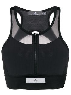 Adidas By Stella Mccartney Blusa cropped com mesh