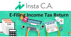 Income Tax Return Filing Online - Insta CA :  It is extremely important to know what kind of #IT #return is required in case of #income #tax #filing. They can range from #ITR-1 to #ITR-8. If you need to complete an income tax return, registration can be easy. #efiling is the most common way to prepare tax returns entirely online.