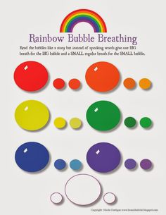 Branch Habitat: Rainbow Breathing Exercise and Worksheet