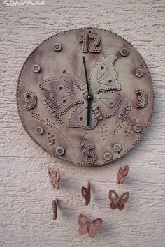 keramické hodiny ručně vyráběné - Hledat Googlem