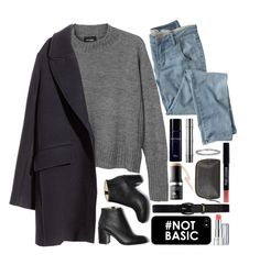 """Untitled #231"" by thebluek-poper ❤ liked on Polyvore featuring Monki, H&M, Wrap, Paul Andrew, MAKE UP FOR EVER, Christian Dior, Gucci, Lauren Ralph Lauren, Revlon and Warehouse"