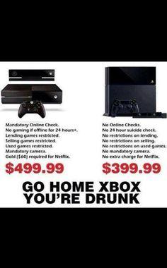 LOL XBOX you 're drunk!!! | La realidad!!! jajajajaj Xbox vs PS4.