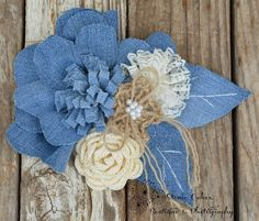 Here's a fun denim flower country style
