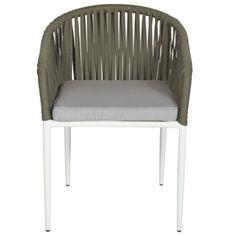 Stoel Noah groen (kussen is grijs) Outdoor Furniture Chairs, Hygge, Taupe, Outdoor Decor, Home Decor, Gardening, Beige, Decoration Home, Room Decor