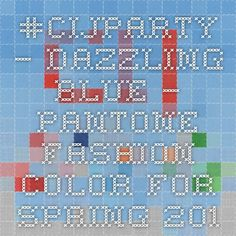 #CIJParty – Dazzling Blue – Pantone Fashion Color For Spring 2014   EtsyChristmasInJuly