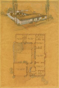Cliff May courtyard homes - mid century modern architecture