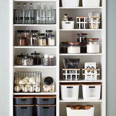 Home Interior Vintage Pantry Goals courtesy of The Container Store.Home Interior Vintage Pantry Goals courtesy of The Container Store Pantry Organisation, Pantry Shelving, Kitchen Pantry Design, Kitchen Organization Pantry, Kitchen Decor, Organized Pantry, Organization Ideas, Kitchen Sale, Kitchen Designs