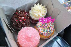 Amazingly sprinkled cupcakes.