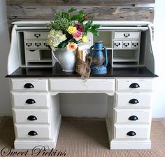 Diy: maybe an option to redo my roll top desk... White chalk paint
