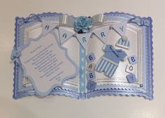 Luxury Handmade Personalised Baby Boy/1st Birthday Bookatrix Card in Crafts, Cardmaking & Scrapbooking, Hand-Made Cards | eBay