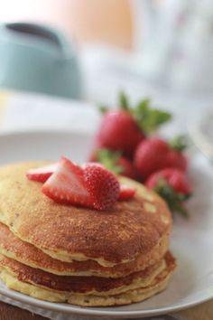 Grain Free Strawberry Shortcake Pancakes | Baker Bettie