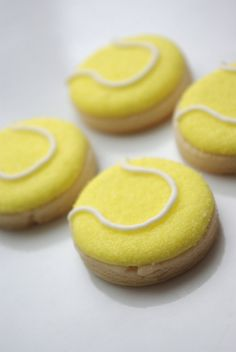 Mini Tennis ball cookies
