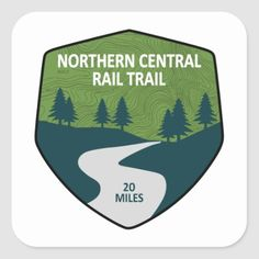 Northern Central Rail Trail Square Sticker walking to running, start running plan, running inspiration motivation #lifestyleblogger #hiit #hiitworkout, back to school, aesthetic wallpaper, y2k fashion Mount Vernon Trail, Funny Stickers, Custom Stickers, Florida Trail, Ice Age Trail, Colorado Trail, Colorado Rockies, John Muir Trail, River Trail