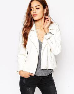 Vila White Biker Jacket