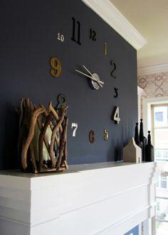 wall clock decor living room 758293655997998041 - 12 Unique DIY Large Wall Clock Ideas For Stunning Living Room Decoration 13 Source by Wall Clock Fancy, Big Wall Clocks, Wall Clock Design, Unique Wall Clocks, Black Clocks, Clock Decor, Diy Wall Decor, Home Decor, Diy Clock