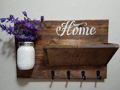Rustic Decor, Home Decor, Key Rack ,Home Sign, Mail Holder, Key Holder, Mail Organizer, Home sign,House warming, Hostess gift, Farmhouse #Promotion… #PaidAd #ad #affiliatelink