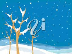 iCLIPART - Royalty Free Clipart Image of a Snowy Landscape