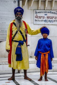 Old & Young Sikh - India