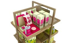 Product presenter designed by studio a. Aqua, Presents, Retail, Studio, Design, Modern Table, Gifts, Water, Favors
