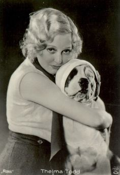 Thelma Todd and Petey the dog