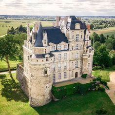 """"""" We present """" . 🇬🇧 The Château de Brissac is a French château in the commune of Brissac-Quincé, located in the département of Maine-… Beautiful Castles, Beautiful Buildings, Beautiful Places, Oh The Places You'll Go, Places To Travel, Places To Visit, Mansion Homes, Castles To Visit, Castle House"""