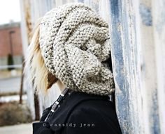 Hand Knit Hat, Oatmeal Beret, Knit Beret, Oversized Hat - Winter Accessories Winter Fashion Chunky Knit