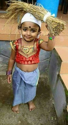 A sweet little Indian angel!