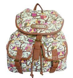 LYDC Anna Smith Large Authentic Celebrity Designer Retro Owl Tree Pint Rucksack Backpack:Amazon:Clothing