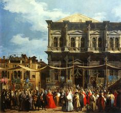 Canaletto - visite du doge