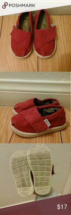 Toms Red Toms in great condition TOMS Shoes Sneakers
