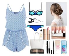 """""""A Day At The Beach"""" by xoxokatelynn13 ❤ liked on Polyvore featuring Ralph Lauren, Charlotte Tilbury, Stila and Maybelline"""