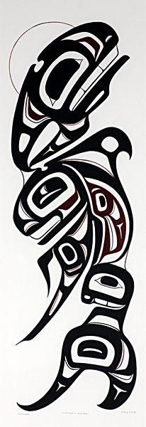 Mother's Keeper - Chester (Chaz) Patrick Haida Kunst, Arte Haida, Haida Art, Haida Tattoo, Totem Tattoo, American Indian Art, Native American Art, Tatouage Haida, Native Tattoos