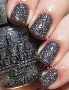 OPI - My Voice Is A Little Norse (shown here is one coat over OPI - How Great Is Your Dane?)