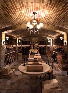 gorgeous wine cellar by Brett Valenstein/Babylon Interiors - http://www.houzz.com/photos/56499/private-residence--corona-del-mar--california-traditional-wine-cellar-denver #WineCellar