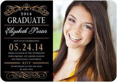 Vintage Class - #Graduation Invitations - Victoria Justice - Black #TinyPrintsGrad