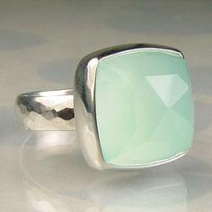 so pretty:) sea green cocktail ring