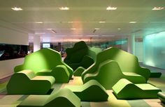Bloomberg office installation by Jump Studios, London office